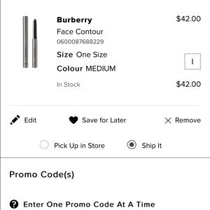 BURBERRY face contour pen - Med 01